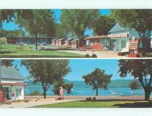 Pre-1980 OLD CARS & MERRILL'S MOTEL Lake City Minnesota MN W6282