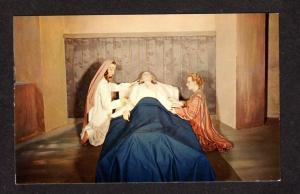 PQ Ste Anne de Beaupre Wax Museum Death Ste Anne Quebec Religious Carte Postale