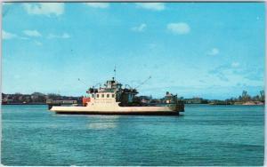 SAULT STE. MARIE, ONT Canada   PASSENGER & CAR FERRY  c1950s  Postcard
