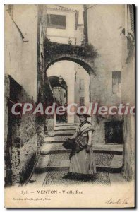 Old Postcard Menton Old Street