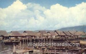 Penang Malaysia, Malaya Atap Huts in Weld Quay  Atap Huts in Weld Quay