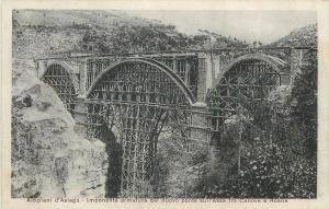 Altipiani d`Asiago Imponente armatura del nuovo ponte sull Assa fra Canove Roana