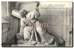 Troyes Postcard Old Church of Saint Nicolas BThe Christ falling under the cro...