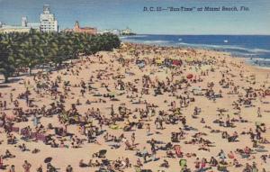 Florida Miami Beach Sun Time Curteich