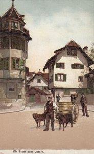 Dog Cart , Ein Stuck altes LUZERN , Switzerland , 00-10s