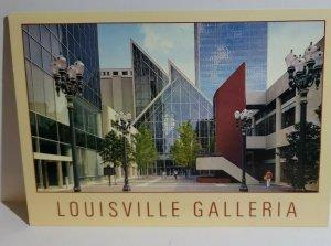 Vintage Postcard Louisville Galleria glass atrium Kentucky 1990