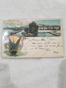 Antique Postcard entitled Souvenir of Geneve - Geneva, July 21, 1900 118 y/o
