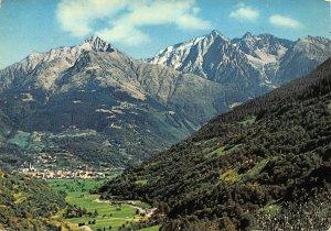 Italy Edolo Valle Camonica e il Gruppo del Baitone Mountains Panorama Postcard
