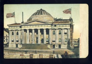 Boston, Massachusetts/MA Postcard, Early View Of Custom House