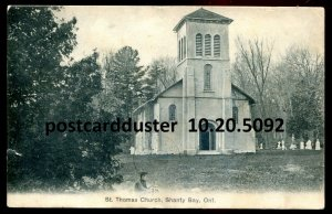 5092 - SHANTY BAY Ontario Postcard 1907 St. Thomas Church