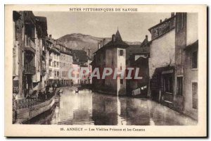 Old Postcard Annecy Old Prisons and Channels