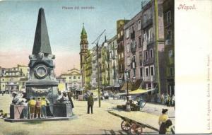 italy, NAPOLI NAPLES, Plazza del Mercato (ca. 1899)
