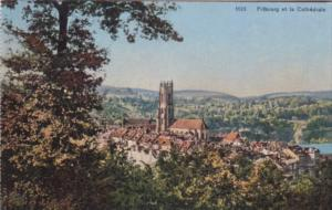 Switzerland Fribourg et la Cathedrale
