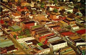 Antena Vista Downtown Calle Principal Yazoo Mississippi Ms Unp Cromo Postal
