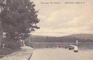 New York Oquaga Lake View Near The Retlaw Albertype