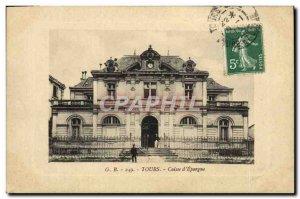 Old Postcard Bank Caisse d & # 39Epargne Tours