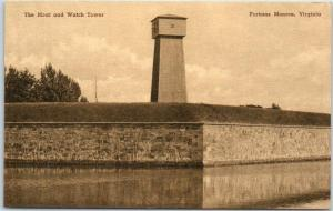 Fortress Monroe, Virginia Postcard The Moat & Watch Tower Albertype Unused