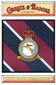 Postcard RAF Royal Air Force No.231 Operational Conversion Unit Crest Badge NEW