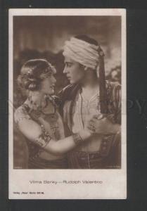 119744 BANKY & VALENTINO Silent MOVIE STARS Vintage PHOTO PC