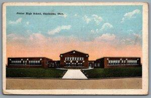 Postcard Chickasha OK c1920s Junior High School Grady County