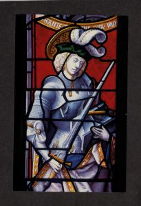 MA Stained Glass Window Higgins Armory Museum Worcester Massachusetts Postcard