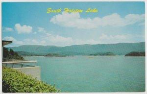 SOUTH HOLSTON LAKE Bristol TN Postcard Watauga Dam control
