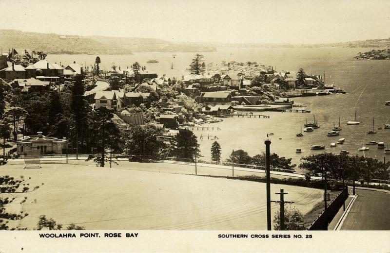 australia, ROSE BAY, Woolahra Point (1930s) RPPC, Southern Cross Series No. 25