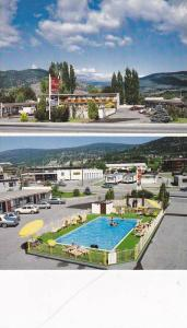 2-Views, Flamingo Motel, Penticton, B.C.,  Canada, 50-70s