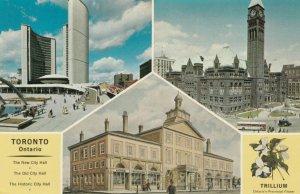 TORONTO , Ontario, 1950-60s ; 3 view postcard