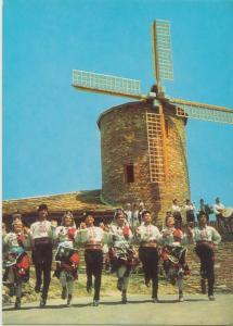 Bulgaria, Slantschev Brjag-Restaurant, Windmill, unused Postcard