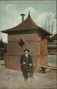 Menands NY Mike The Old Flagman Train Station c1910 Postcard