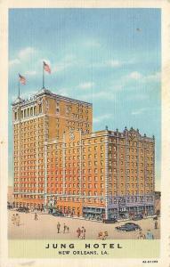 New Orleans Louisiana~Jung Hotel~1934 Linen Postcard