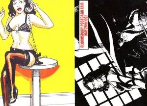 0898 Rude Telephone Call Risque Dominatrix 2x Advertising Postcard s