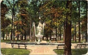 Fountain in Jefferson Park, Elizabeth NJ