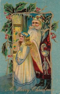 CHRISTMAS, 1910 ; Angel & Santa Claus