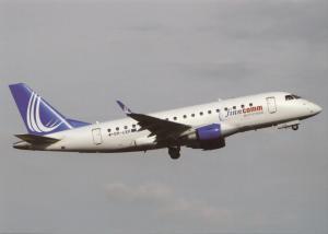 FINNCOMM AIRLINES, EMB-170LR, unused Postcard