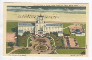 Aerial, Ocean Forest Hotel & Patio, Myrtle Beach, South Carolina, 30-40s