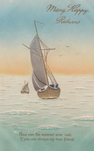Sailing Vessel, Many Happy Returns , 1909