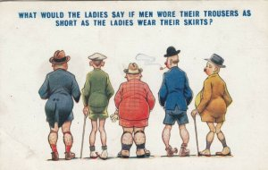 Men in trousers as short as Ladies skirts, 1900-10s