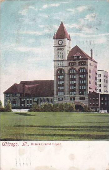 Illinois Chicago Illinois Central Depot 1907