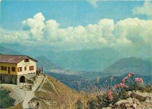 Postcard Switzerland Mieglieglia Seggiovia Ristorante Vetta Monte Lema