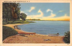 Northville New York Scenic Waterfront Greeting Antique Postcard K89227