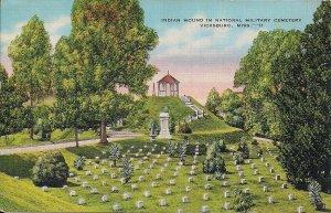 Vicksburg, MS, National Cemetery 1944, Indian Mound, Civil War Battlefield Linen