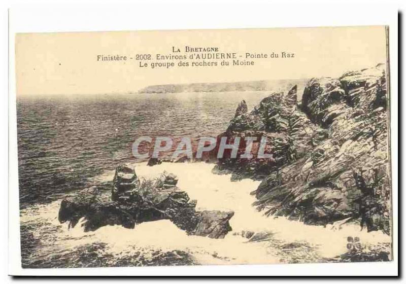 Surroundings of Audierne Vintage Postcard Point Strong current the group of the
