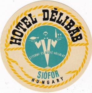 Hungary Siofok Hotel Delibab Vintage Luggage Label lbl0048