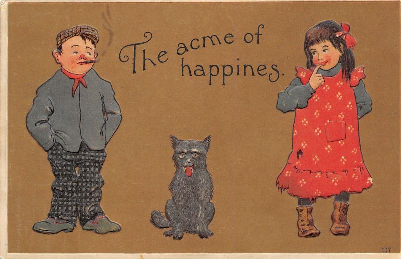 Acme of Happiness~Tough Kid Smokes~Ragged Girl~Dog Between~Emboss~Otto Schloss