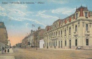 AK Lima Avenida De La Colmena Peru Old Postcard
