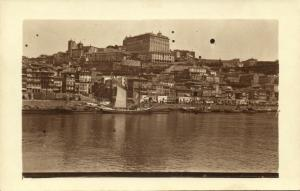 unknown European Town, Panorama from the Sea (1910s) RPPC