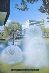 Ferrier Fountain Christchurch New Zealand NZ Unused Vintage Postcard D28