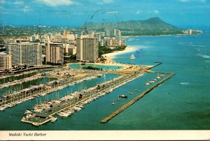 Hawaii Waikiki Yacht Harbor 1976
